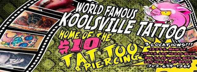 Koolsville Tattoo of Las Vegas, NV