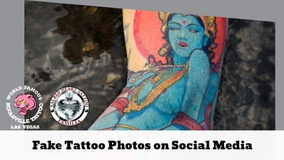 Fake Tattoo Photos on Social Media
