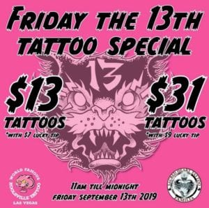 Friday the 13th Tattoo Las Vegas Nevada